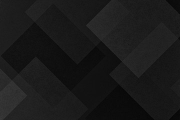 abstract black background, diamond and square shapes with texture are layered in a modern geometric pattern design