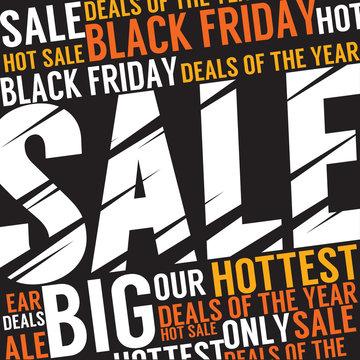 Black Friday  Discount Sale Banner Vector Illustration