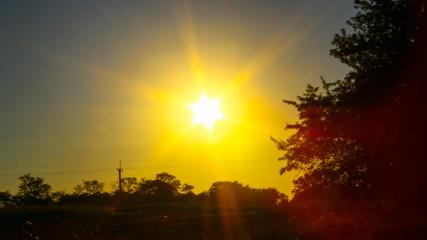Morning sunrise photo taken in video mode