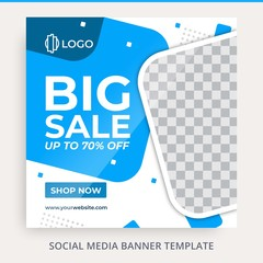 Social Media Fashion Sale Offer Discount Social Media Feed Square Banner Post Template Free