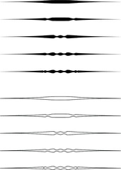 Ornamental Rule Lines.Ornamental Rule Lines Vector.