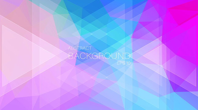 vector background in pastel shades. geometric triangle.