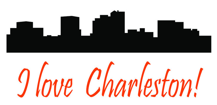 Charleston, West Virginia (city silhouette)