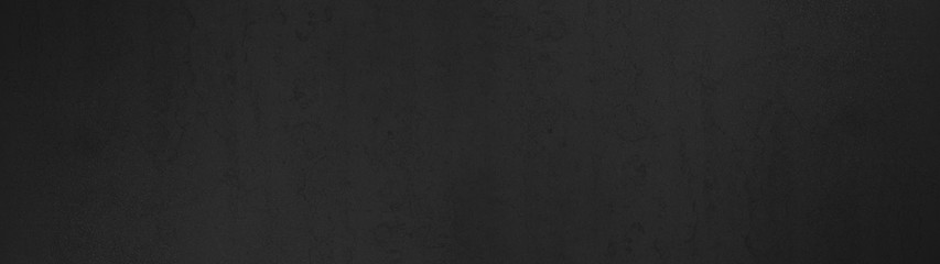 Black anthracite stone concrete chalkboard texture background wide panorama banner long