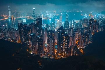Photo sur Plexiglas Hong-Kong 香港夜景