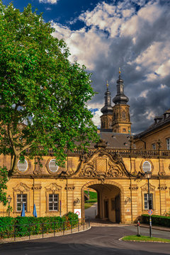 kloster banz the benedictine monastery near bad staffelstein, germany