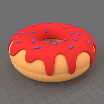 Stylized donut with sprinkles