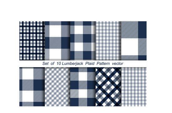 Lumberjack background. Textile plaid. Pattern background. Tartan fabric. Vector illustration