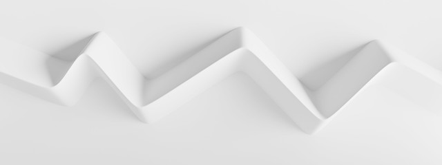 Modern Geometric Wallpaper. White Minimal Panorama