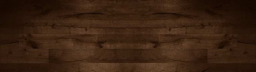 wood background banner wide panorama - top view of wooden solid wood flooring parquet laminate brushed oak country house floorboard dark
