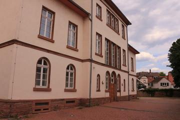 Blick auf das Historische Schöfferhaus im Zentrum von Gernsheim