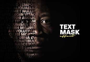 Cut Out Portrait Text Mask Effect Mockup