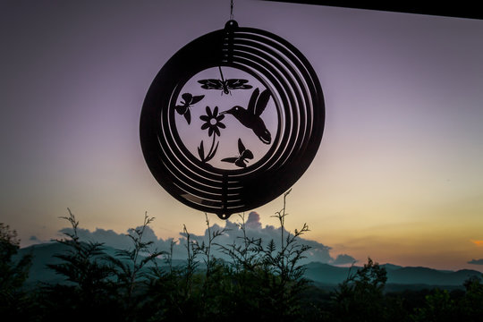 Sunset Behind The Wind Chime