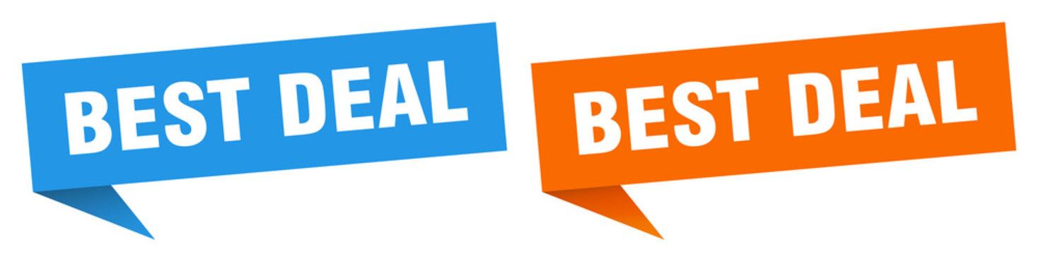 best deal banner sign. best deal speech bubble label set