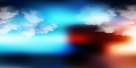 Photo sur Plexiglas Turquoise ハロウィン 夜空 風景 背景