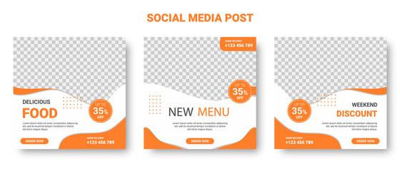 Orange and White Square Social Media Posts