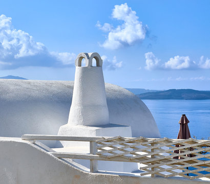 Traditional Chimeny in Oia Santorini