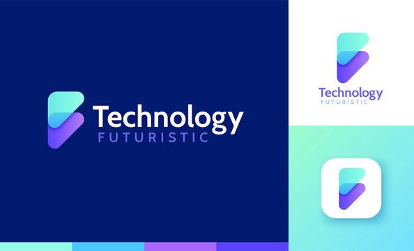 Letter F logo set