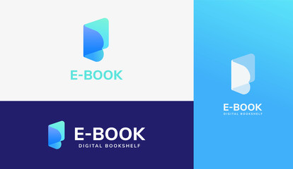 E-book logo set