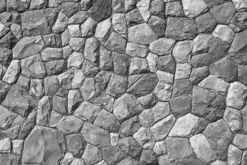 Wall Mural - white and gray hard stone wall for pattern and background