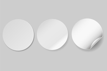 Circle adhesive symbol isolated on white background. Vector illustration.