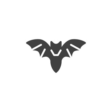 Halloween bat vector icon. filled flat sign for mobile concept and web design. Flying bat glyph icon. Symbol, logo illustration. Vector graphics