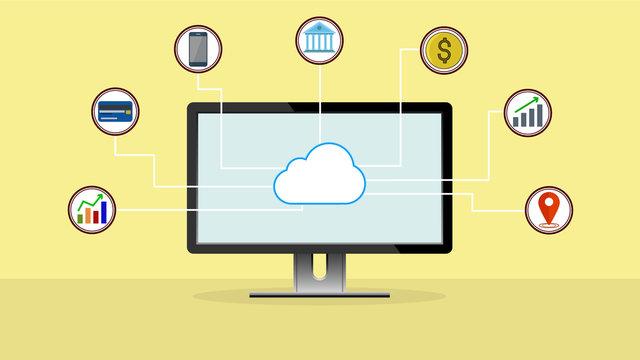 Cloud data computing, Business cloud marketing, Digital marketing technology.