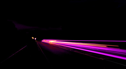 Purple street lights with long exposure at night - perfect for wallpapers Fotomurales