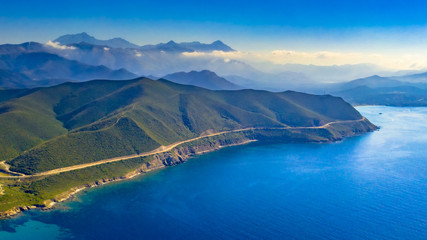 Wall Mural - Aerial view of Corsica coastline
