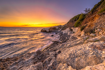 Wall Mural - Coastal sunset Cap Corse