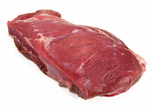 Raw Wild Boar Roast - Wild Game Meat on white Background - Isolated