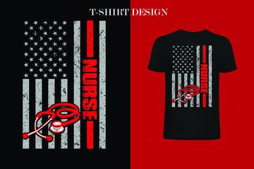 nurse American Flag 4th Of July t-shirt