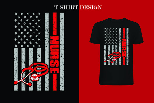 nurse American Flag 4th Of July t-shirt