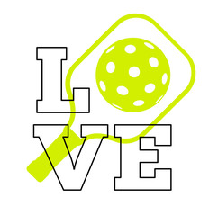Love pickleball sign