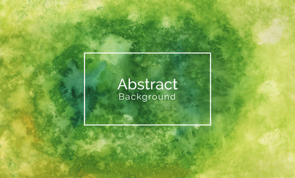 Abstract green  texture watercolor background, green and yellow watercolor texture background