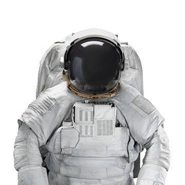 Space suit astronaut isolated on white background