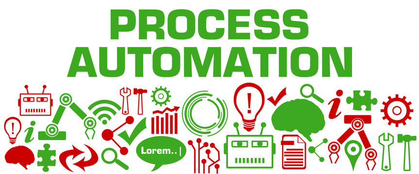 Process Automation AI Technology Texture Bottom Greed Red