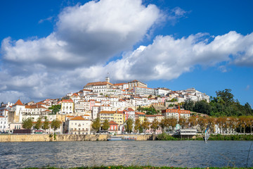 Wall Mural - Coimbra cityscape seen from Mondego river,  Portugal