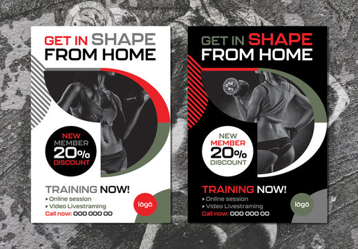 Fitness Studio Promotion Poster Layout