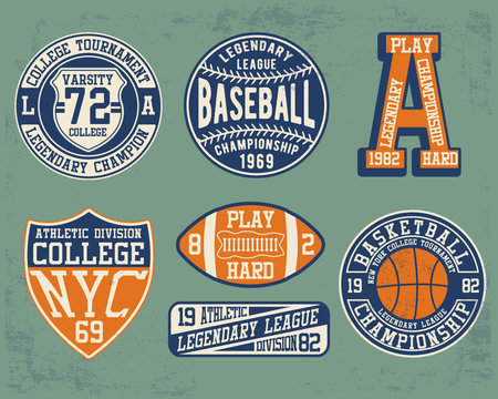 Vintage theme typography for t shirt prints, posters and other uses.