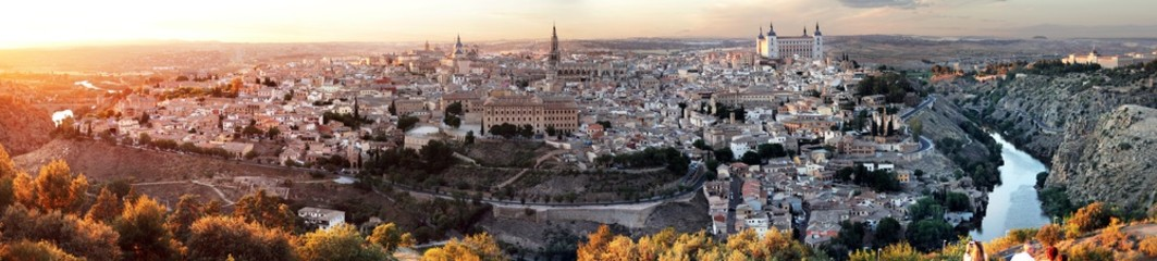 Evening view over the old town of Toledo, Spain