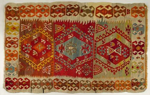 Traditional old handmade Turkish Carpet