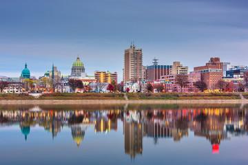 Fototapete - Harrisburg, Pennsylvania, USA skyline on the Susquehanna River