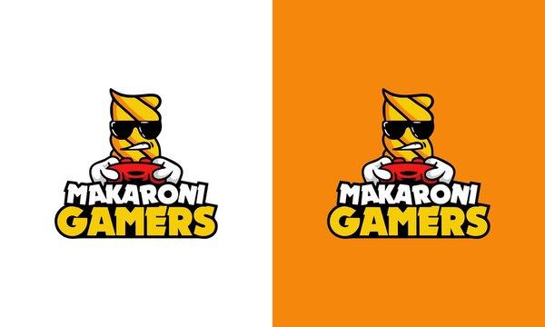 macaroni/makaroni gaming logo esport team.