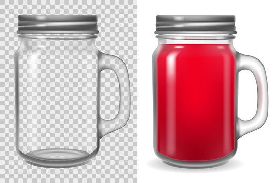 Mason jar with lid mock up
