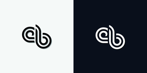 Modern Abstract Initial letter EB logo. This icon incorporate with two abstract typeface in the creative way.It will be suitable for which company or brand name start those initial.