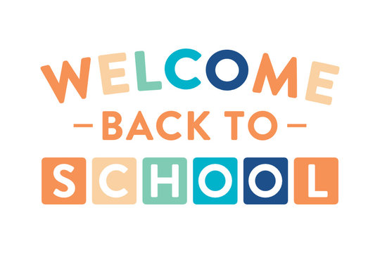 Welcome Back To School, Public School, Elementary School, Classroom Poster, Flyer for Teachers, Educators, Vector Illustration Background