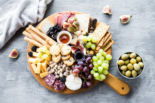 Assortment of tasty appetizers or antipasti