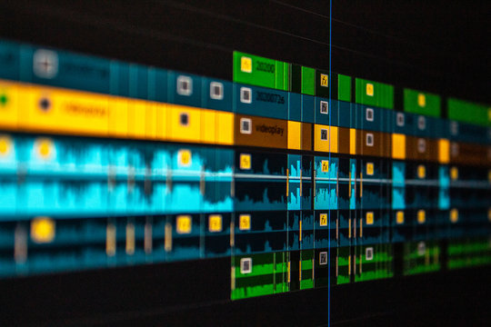 Video Editing Timeline Premiere Pro Color Label