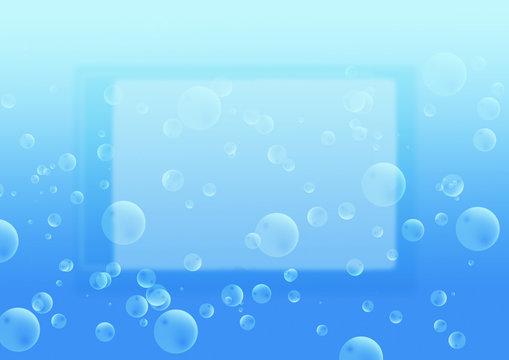cadre bulle air eau bleu dégradé thalasso bain bulle bien-être